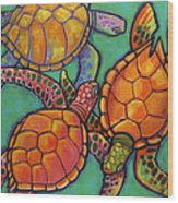 Sea Turtles Wood Print