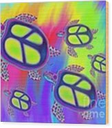 Sea Turtles Swimming  Wood Print