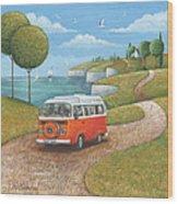 Sea Van Variant 1 Wood Print