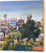 Sea View Del Mar Wood Print by Mary Helmreich