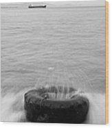 Sea Wave Wood Print