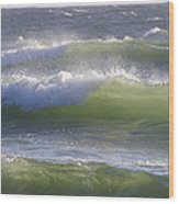 Sea Waves Wood Print