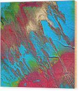 Seabreeze Abstract Painting Wood Print