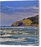 Seacape Wood Print by Robert Bales