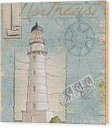 Seacoast Lighthouse II Wood Print
