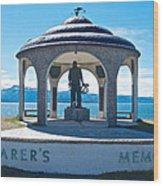 Seafarer's Memorial On Homer Spit-ak Wood Print