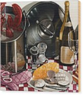Seafood Serenade 1996  Skewed Perspective Series 1991 - 2000 Wood Print by Larry Preston