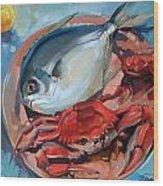 Seafood Still Life Wood Print