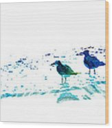 Seagull Art - On The Shore - By Sharon Cummings Wood Print