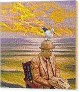 Seagull Man 6 Wood Print