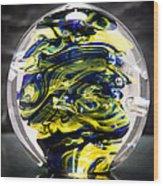Seahawks Glass -  Solid Glass Sculpture  Wood Print