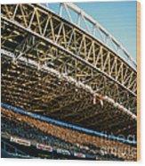 Seahawks Stadium 3 Wood Print