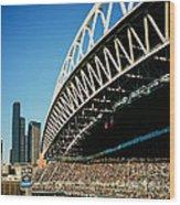 Seahawks Stadium 5 Wood Print