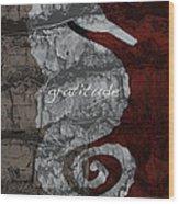 Seahorse Gratitude Wood Print