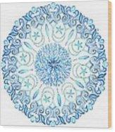 Seahorse Mandala Wood Print