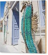 Seahorse Of Glass Wood Print by Aiolos Greek Collections