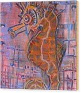 Seahorse Sandy Wood Print
