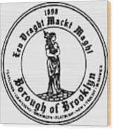 Seal Of Brooklyn Wood Print