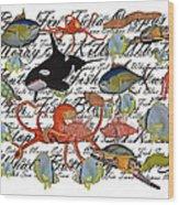 Sealife Dreamland IIi Wood Print