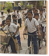 Seam Reap School Children   #2646 Wood Print