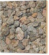 Seamless Background Gravel Stones Wood Print