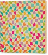Seamless Color Mosaic Background Wood Print