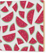 Seamless Colorful Pattern With Red Wood Print