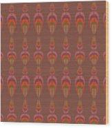 Seamless Geometric Vintage Wallpaper Wood Print