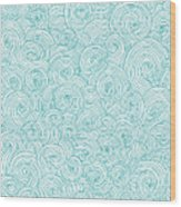 Seamless Pattern Of Doodle Swirls And Wood Print