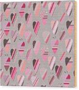Seamless Pattern With  Vintage Tilda Wood Print