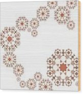 Seamless Retro Pattern Wood Print