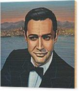 Sean Connery As James Bond Wood Print