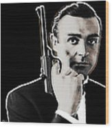 Sean Connery James Bond Square Wood Print by Tony Rubino