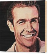 Sean Connery Wood Print by Shirl Theis