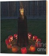 Seance Pumpkins Demon Wood Print