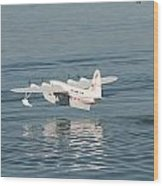 Seaplane Liftoff Wood Print