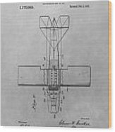 Seaplane Patent Drawing Wood Print