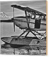 Seaplane Standby Wood Print