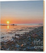 Seapoint Beach In  Kittery Point Maine Wood Print