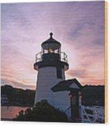 Seaport Nightlight Wood Print