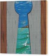 Search For The Key Wood Print