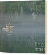 Searching For The Buoy Wood Print