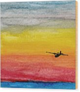 Searching The Vastness - Pby Catalina On Patrol Wood Print