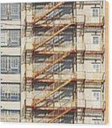 Sears Crosstown Fire Escape Memphis Tn Wood Print