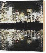 Sears Tower Dominated Skyline Lake Reflection  Wood Print