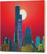 Sears Tower Willis Tower Chicago Wood Print
