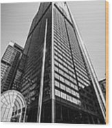 Sears Willis Tower Chicago Black And White Picture Wood Print