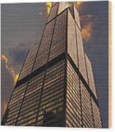 Sears Willis Tower Wood Print
