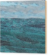Seascape Abstract Wood Print