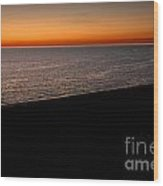 Seascape At Dawn Wood Print